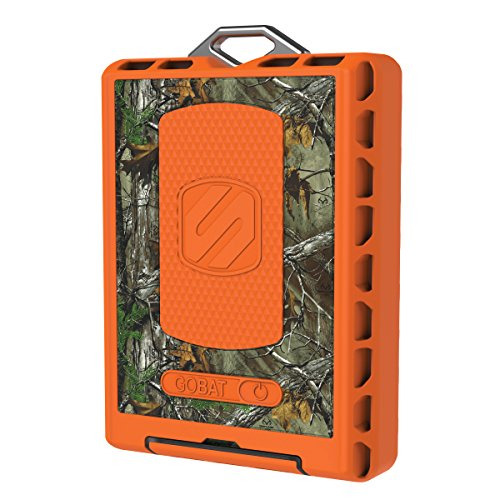 SCOSCHE RPB12RT GoBat Realtree Rugged Dual USB Port 12,000 mAh Portable Battery Pack (Scosche Gobat)