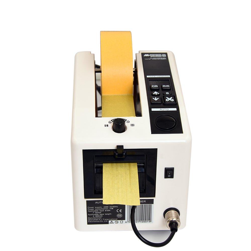 KNOKOO Dispensatore Automatico di Nastro M1000S, Dispenser Nastro Adesivo Elettrico 5-50 mm di Larghezza