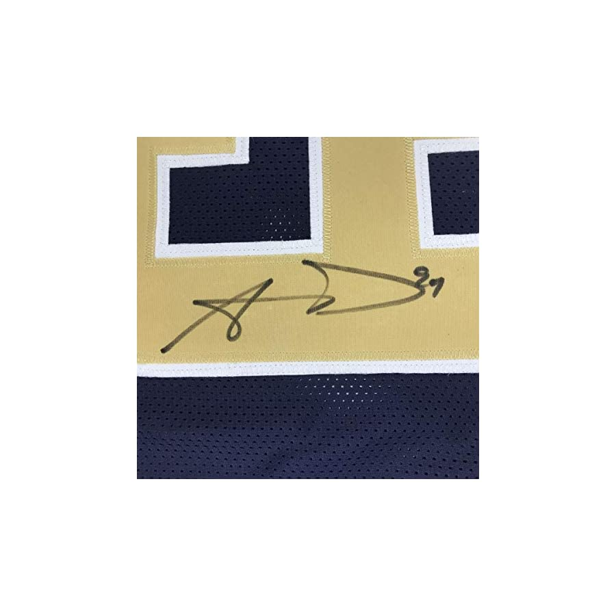 Autographed/Signed Aaron Donald Los Angeles LA Dark Blue Football Jersey JSA COA