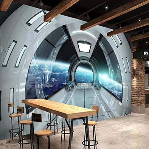 3D Wall Decorations Wallpaper Stickers Murals Modern Character Universe Space Capsule Decoration Art Room Background Art Girls Bedroom (W)250X(H)175Cm]()