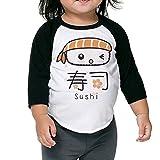 Lisenict Japana Sushi Children 3/4 Sleeve Tee Size3 Toddler