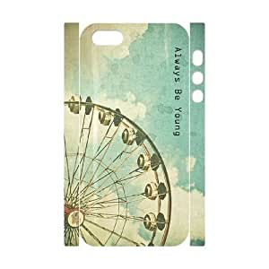 Cool Painting Forever Young Customized 3D Cover Case for Iphone 5,5S,custom phone case case591406