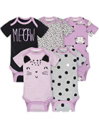 Baby Girls' 5-Pack Short-Sleeve Onesies Bodysuit