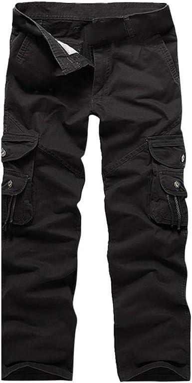 STRIR Pantalones Largos de Trabajo Cintura Elástica Algodón Ancho ...