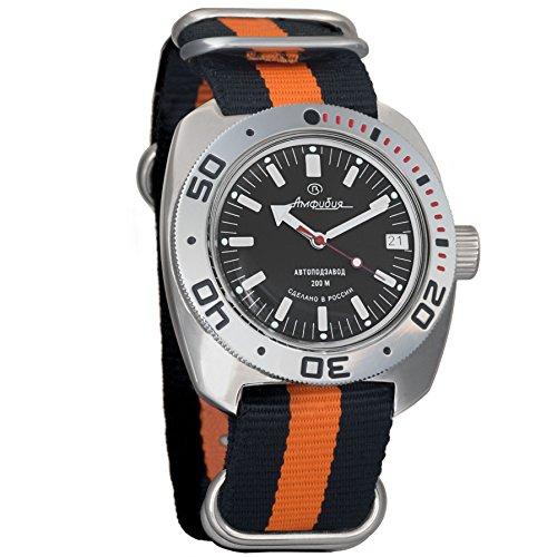 Vostok Amphibian Automatic Mens WristWatch Self-winding Military Diver Amphibia Ministry Case Wrist Watch #710662 - Watch Diver Russian