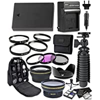 Canon EOS Rebel T3, T5, T6, EOS 1100D, EOS 1200D, EOS 1300D Digital Cameras 14pc Accessory Bundle Includes LP-E10 Replacement Battery, AC/DC Worldwide Charger, Camera Backpack and More
