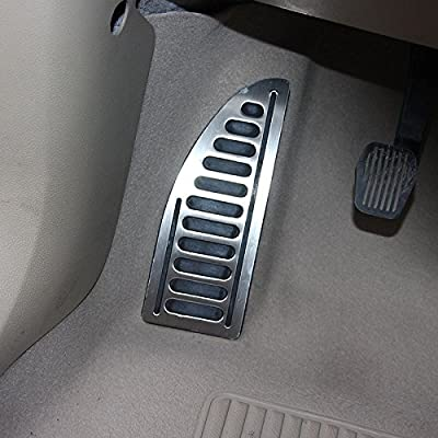 Stainless With Non-Slip Rubber Footrest Pedal Cover Foot Rest Pad With Adhesive Direct Replacement Fit For Ford Focus MK2 MK3 Kuga Escap: Automotive