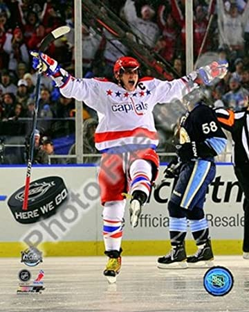 59097917d Image Unavailable. Image not available for. Color  Alex Ovechkin 2011 Nhl  Winter Classic NHL Hockey Action Photo Print (8 x ...