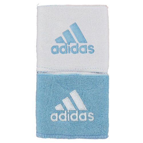 adidas Interval Reversible Wristband, Argentina Blue/White / White/Argentina Blue, One Size Fits All by adidas (Image #1)