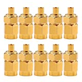 Areyourshop 10X Adapter SMA Male Plug To MMCX Female Jack Connector Straight Gold Plating