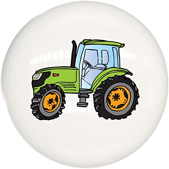Your Choice of Colors Blue Tractor Ceramic Cabinet Knobs for Childrens Room Decor Single Blue Tractor Drawer Pulls