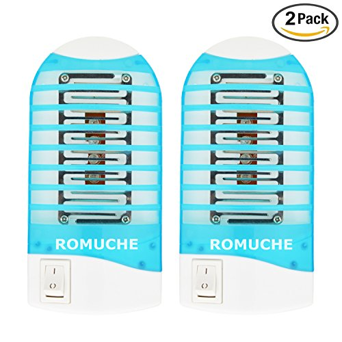 Mosquito Killer Lamp, ROMUCHE 2Pack Mini Mosquito Killer Lamp, Indoor Electronic Insect killer, Electronic Insect Trap Harmless for Human & Pets