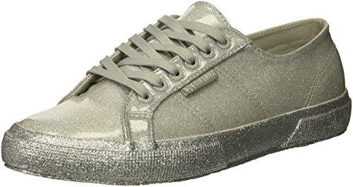 Superga Women 2750 Glitterpatentw Sneaker Silver