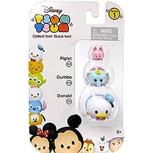 Disney Tsum Tsum Piglet, Dumbo & Donald 1 152, 123 & 115 Minifigure 3-Pack