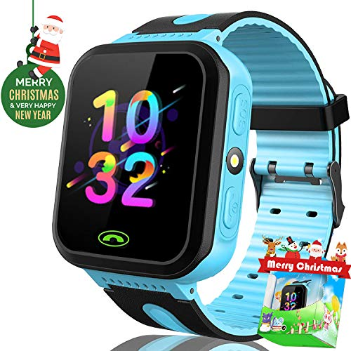 Kid Smart Watch Phone with SIM Calls GPS Tracker Locator Game Watch with SOS Anti-Lost Camera Electronic Learning Holiday Birthday Toys for Boys Girls Christmas Birthday Thanksgiving Gift- (Electronics Gps Walkie Talkies)