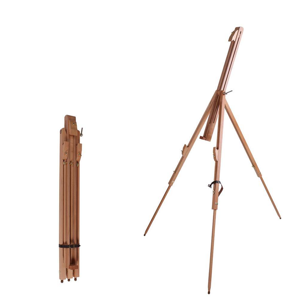 フィールド旅行スケッチイーゼル、便利な木製の三脚折りたたみ収縮多機能描画ボードフレーム水彩画   B07MHTXS8R