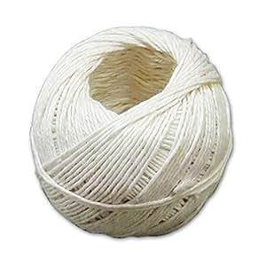 Takestop® Juego 100gr ovillo ovillos de cordel de algodón blanco de hilo trenzado para alimentos cocina casa