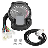 Motorcycle Odometer, LCD Digital Motorcycle Odometer 7colors Speedometer Motorcycle Tachometer
