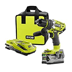 Heavy duty jobs call for heavy duty tools. This kit from Ryobi features a hammer drill, one 18v One+ high capacity battery, a charger, and a tool bag to store it all in. The P251 is a hammer drill from Ryobi can tear through a huge variety of...