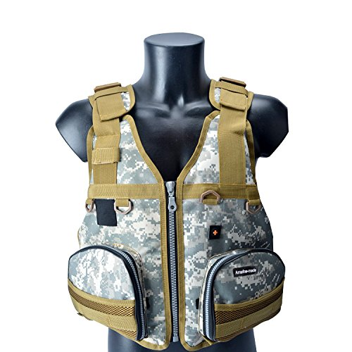 Amairne-Made Boat Buoyancy Aid Sailing Kayak Fishing Life Jacket Vest Camouflage - D22