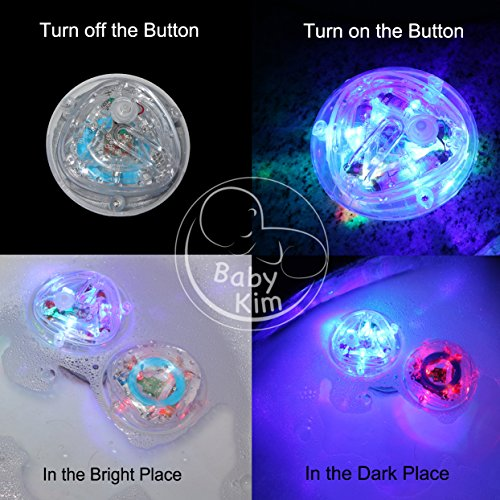 Bath Toys 4 Packs Waterproof LED Lights Multi Color Light Up Bathtub Toys  For Girls And