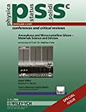 img - for Amorphous and Microcrystalline Silicon - Materials Science and Devices: Physica Status Solidi (Conferences & Critical Reviews) book / textbook / text book