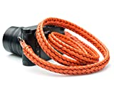 Vi Vante Ultime Burnt Orange Braided Top Grain Leather Designer Camera Strap w/Electroplated Mounting Rings & Branded Carry Pouch