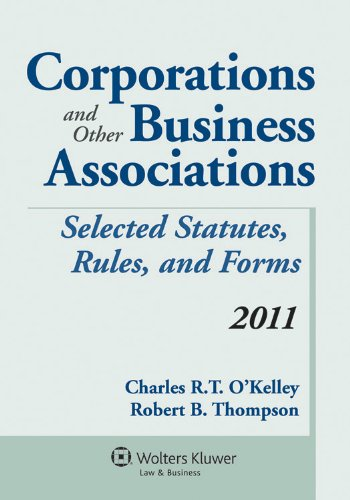 Corporations & Other Business Associations 2011 Statutory Supp