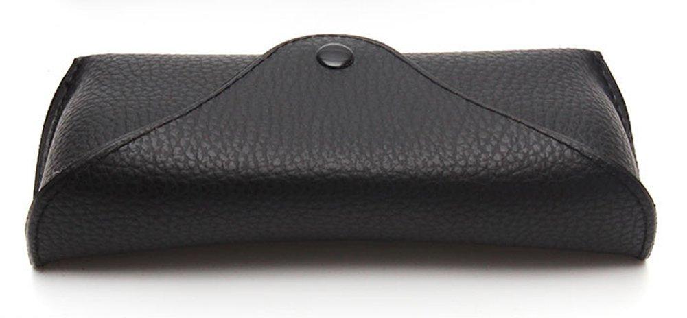 Funnuf Beltloop Vintage Sunglasses Case Litchi Leather Belt Case Retro Glasses Pouch Eyewear Case black by Funnuf (Image #3)