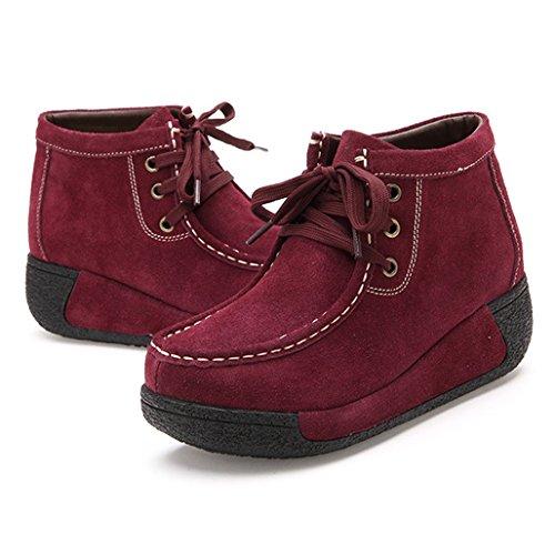 Hishoes Neige Bottes de Rouge femme 0PA0q