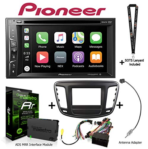 Pioneer AVH-1550NEX DVD Receiver + KIT-C200 for Select Chrysler + ADS-MRR + Antenna Adapter with Free Sound of Tri-State Lanyard ()