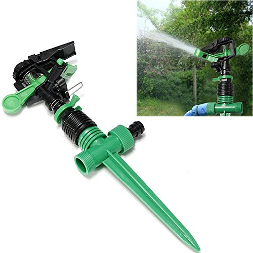 Plastic Adjustable Impulse Sprinkler Garden Water Saving Sprayer // Plstico ajustable impulso jardn de rociadores ahorro de agua pulverizador