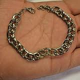 Chain Bracelet. Handmade 92.5 Sterling Silver Diamond Link Bracelet, Diamond Link Bracelet Jewelry
