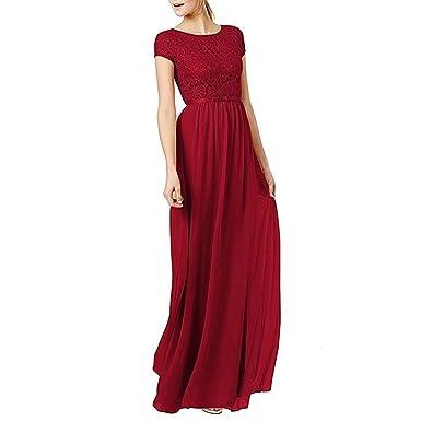 Damen Abendkleider Lang Brautjungfernkleid Ballkleider Partykleider ...