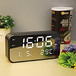 The new high-definition large screen LED digital alarm clock clock luminous mute Students bed room,C