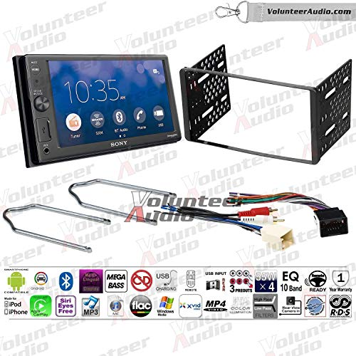 Volunteer Audio Sony XAV-AX1000 Double Din Radio Install Kit with Apple Carplay, Bluetooth, Sirius XM Ready Fits 1999-2004 F-150, 2003-2008 E-150, 1998-2012 Ranger