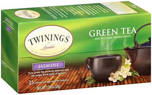 Twinings of London Jasmine Green Tea Bags, 25 Count