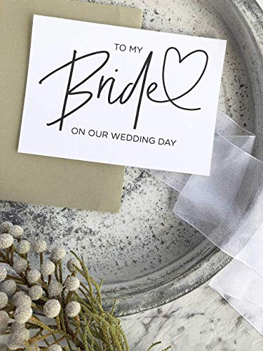 To My Bride on our Wedding Day Card from Groom Black and White Modern -