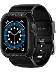 Spigen Compatible for Apple Watch Series 6/SE/5/4 Strap with Case Rugged Armor Pro - Black