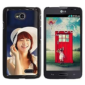 Paccase / SLIM PC / Aliminium Casa Carcasa Funda Case Cover - Cute Koeran Asian Girl - LG Optimus L70 / LS620 / D325 / MS323