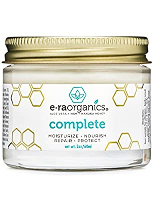 Era Organics Natural Face Moisturizer Cream - Advanced 10-In-1 Non Greasy Daily Facial Cream with Aloe Vera, Manuka Honey, Coconut Oil, Cocoa Butter and More For Oily, Dry, Sensitive Skin by Era Organics