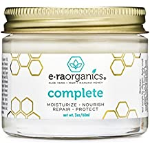 Era Organics Natural Face Moisturizer Cream - Advanced 10-In-1 Non Greasy Daily Facial Cream with Aloe Vera, Manuka Honey, Coconut Oil, Cocoa Butter and More For Oily, Dry, Sensitive Skin (2oz)