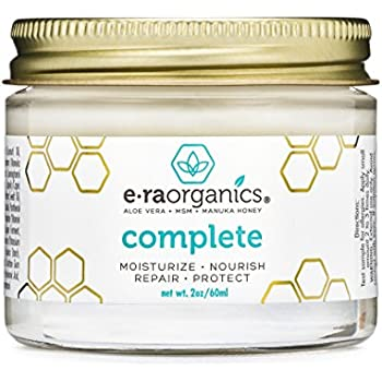 Natural & Organic Face Moisturizer Cream - Extra Nourishing & Hydrating 10-In-1 Daily Facial Cream with Aloe Vera, Manuka Honey, Coconut Oil, Cocoa Butter For Oily, Dry, Sensitive Skin Era-Organics
