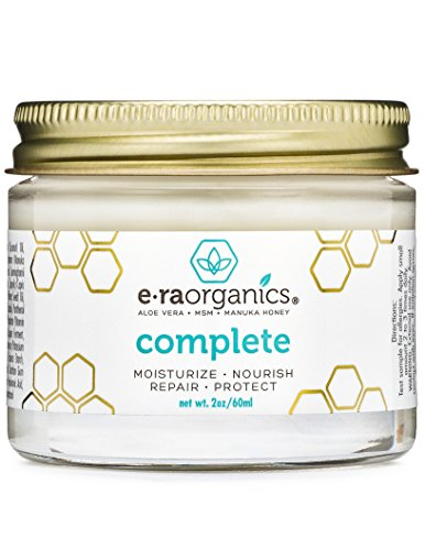 (Natural & Organic Face Moisturizer Cream - Extra Nourishing & Hydrating 10-In-1 Daily Facial Cream with Aloe Vera, Manuka Honey, Coconut Oil, Cocoa Butter For Oily, Dry, Sensitive Skin Era-Organics)