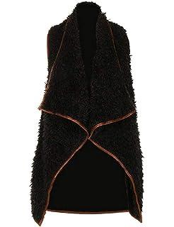 Damen Pelzweste Fashion Elegante Ärmellos Unregelmäßig Kunstpelz Outerwear  Herbst Perfect Winter Herbst Winter Bequeme Warm Fellweste 241ff58514
