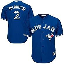 Troy Tulowitzki Toronto Blue Jays #2 Youth Alternate Jersey Blue (Youth Small 8)