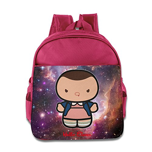 Stranger Things Hello Eleven Kids Backpack School Bag For Boys/girls Pink