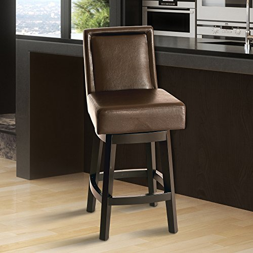 Legacy Commercial Armen Living Wayne Swivel 26 in. Counter Height Stool - - Bar Leather Bicast Stool