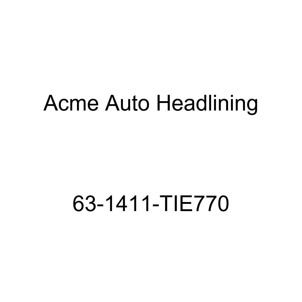 Acme Auto Headlining 63-1411-TIE770 Black Replacement Headliner Chevrolet Impala 2 Door Hardtop 6 Bow