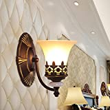Retro Luxury Iron Wall Lamp Living Room Decoration Wall Lamp Bedroom Bedside Lamp Bathroom Mirror Front Light Stairway Aisle Lights